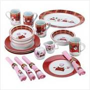 Plaid Snowman Value Pack Setting for Four Tableware