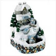 Snowbuddies Musical Fountain/Seasonal Accessories/Christmas Decor