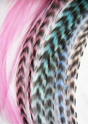 100% pure quality grizzly roosters feathers for hair extensions