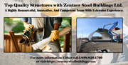Build your metal structure building in Canada by Zentner Steel Buildin